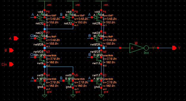 majoritytransistorlevel Nand Gate Schematic on